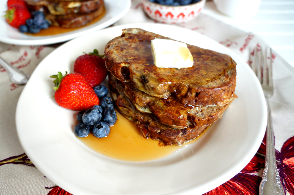 banana bread french toast | The Baking Fairy