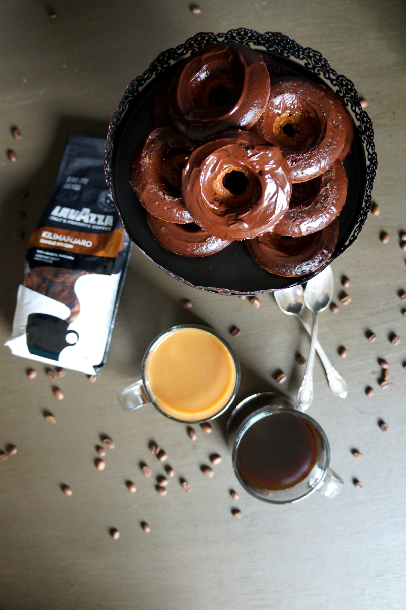 chocolate glazed cappuccino donuts | The Baking Fairy
