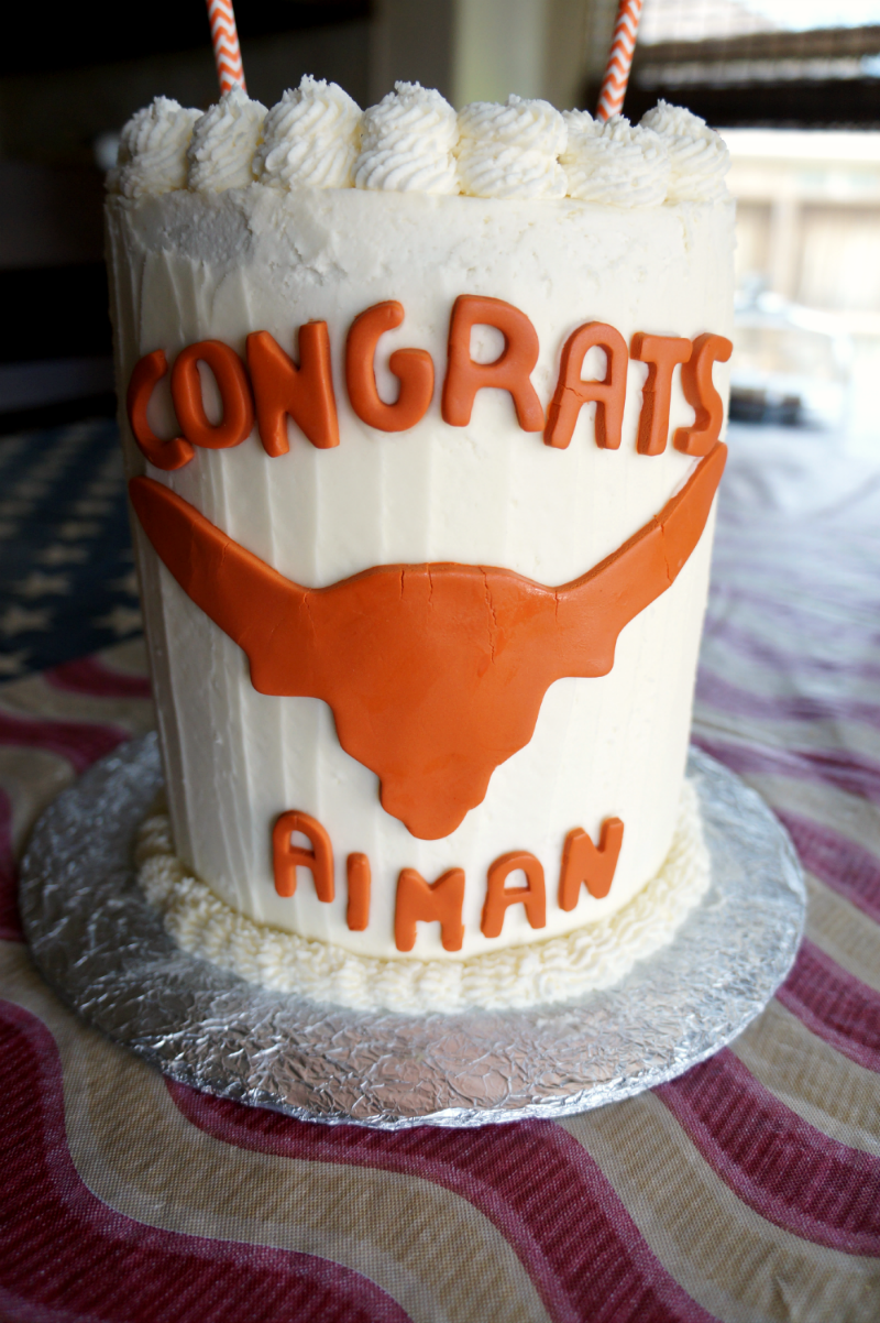 UT graduation cake | The Baking Fairy