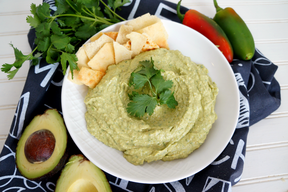 guacamole hummus with Sesame King tahini