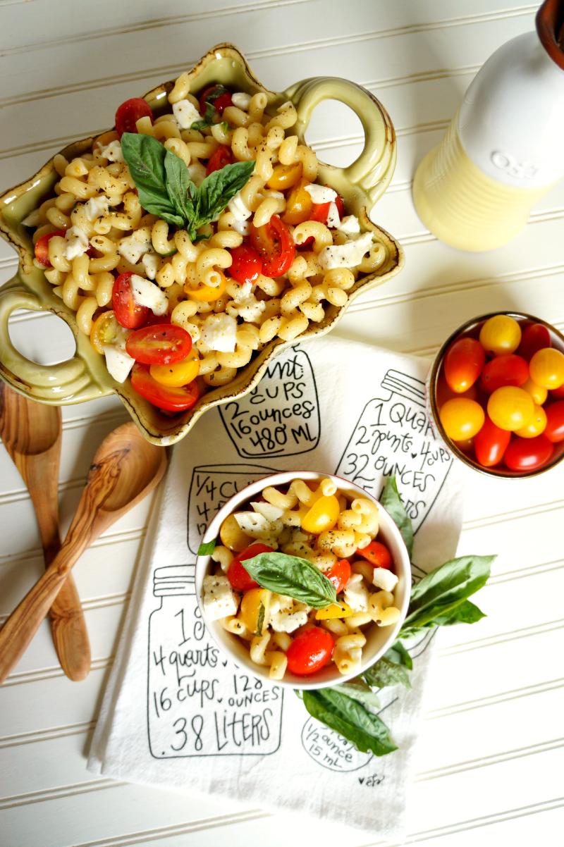 caprese pasta salad | The Baking Fairy