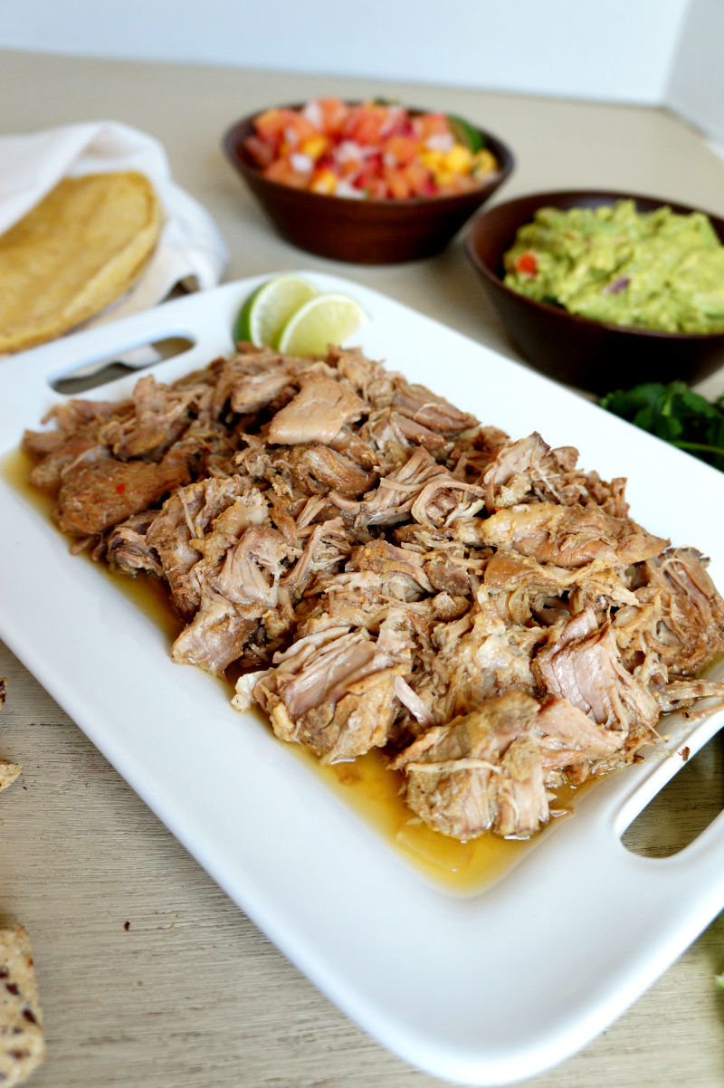 slow-cooked carnitas tacos | The Baking Fairy