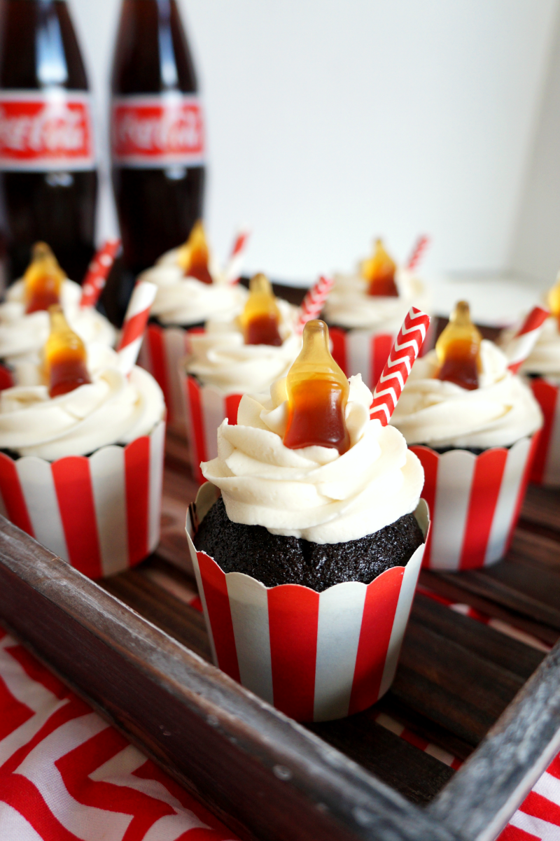 chocolate Coca Cola cupcakes | The Baking Fairy