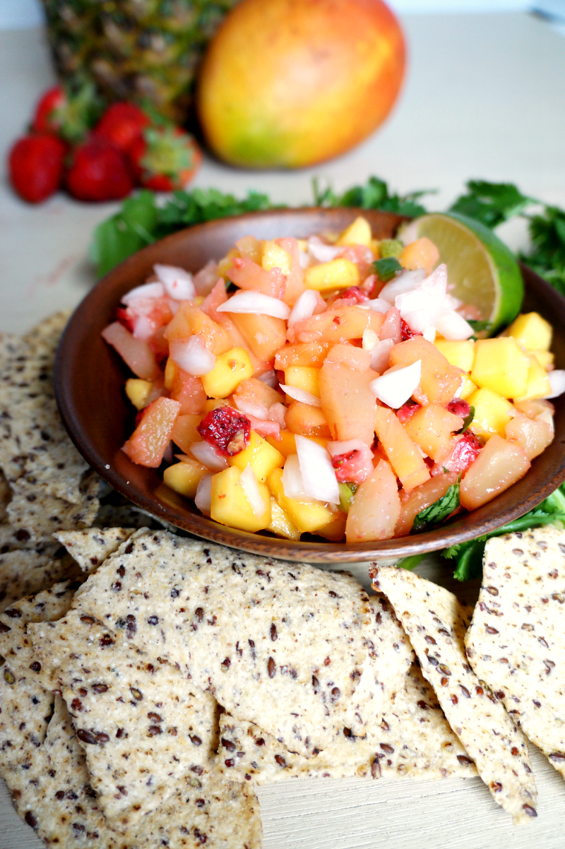 swet & spicy fruit salsa | The Baking Fairy