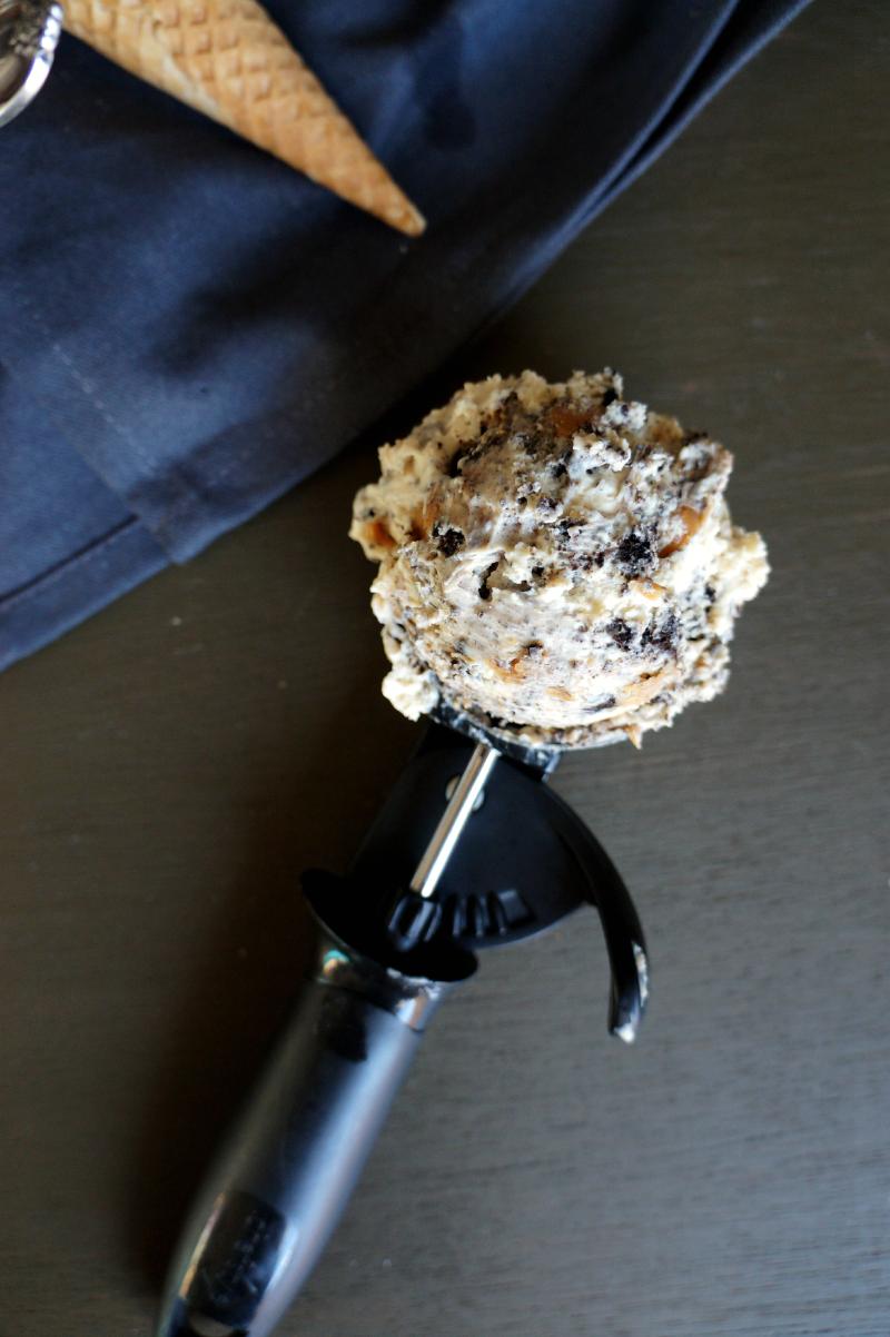 no-churn peanut butter pie ice cream   The Baking Fairy