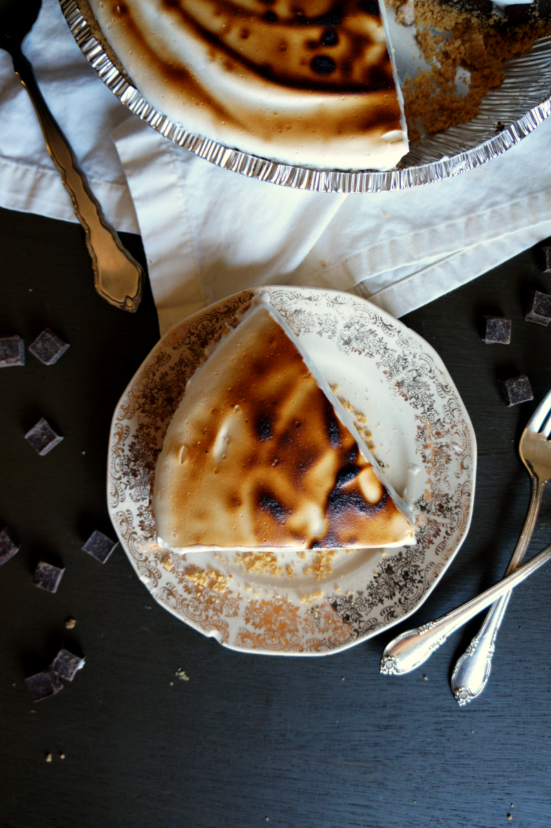 vegan s'mores pie | The Baking Fairy