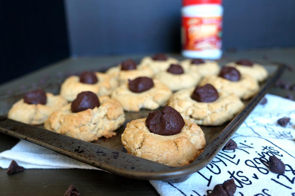 tahini chocolate thumbprint cookies   The Baking Fairy