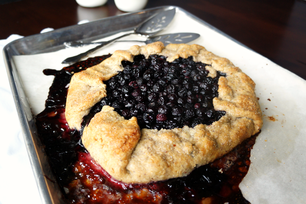 blueberry galette   The Baking Fairy