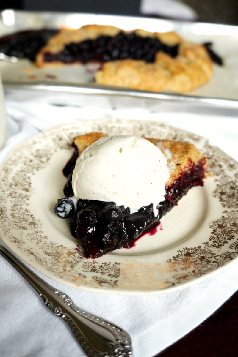 blueberry galette | The Baking Fairy