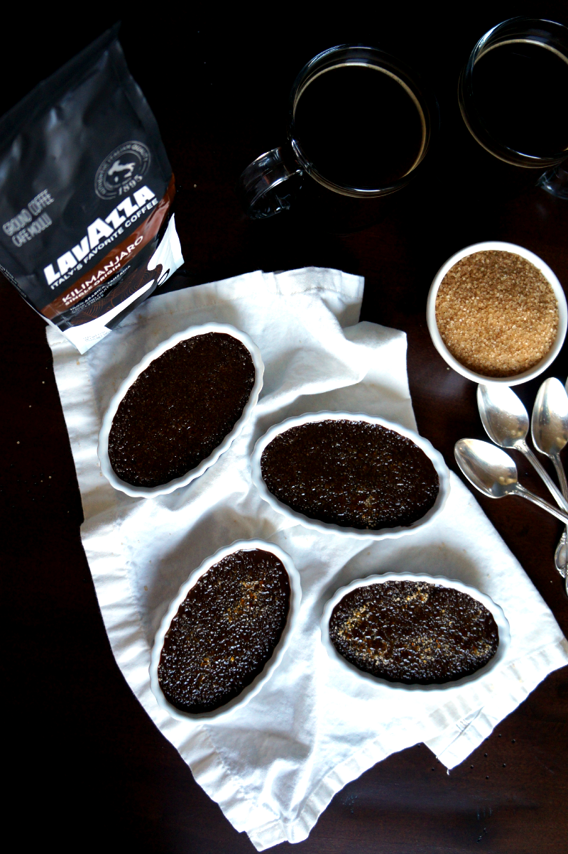 chocolate espresso creme brulee | The Baking Fairy