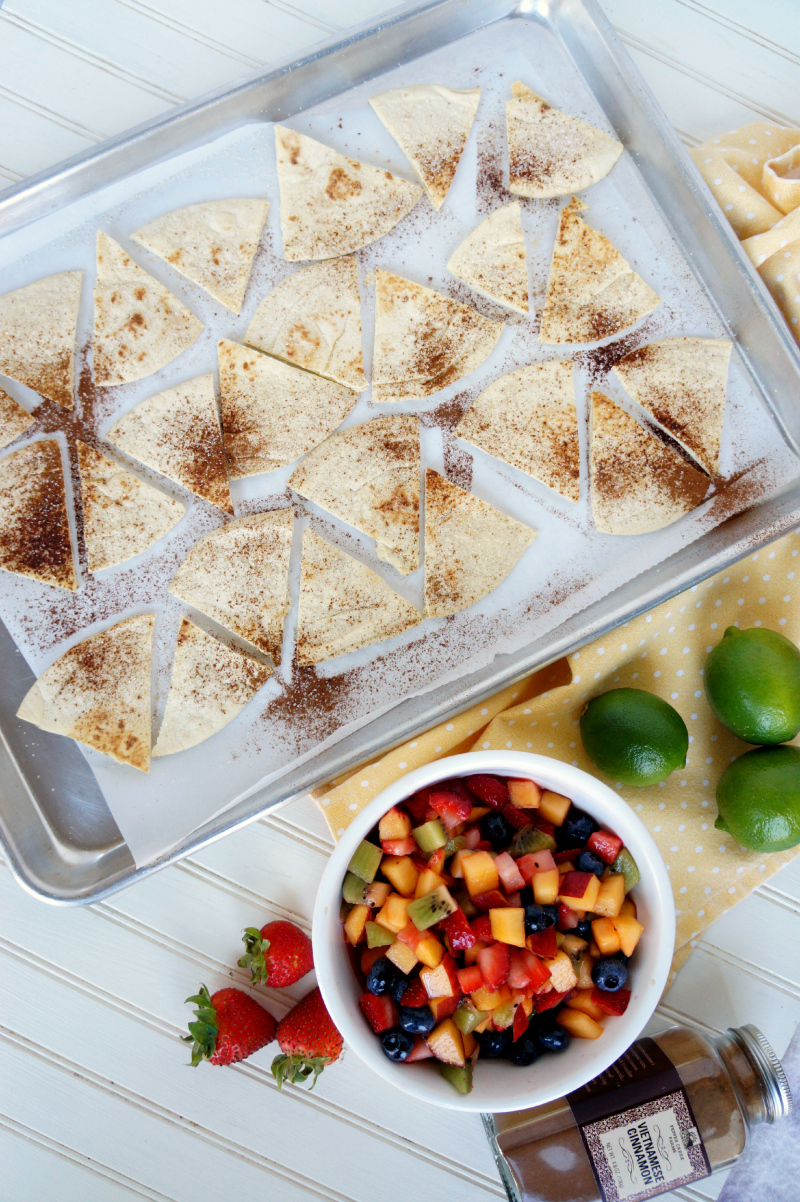 fruit nachos with Reynold\'s Wrap | The Baking Fairy