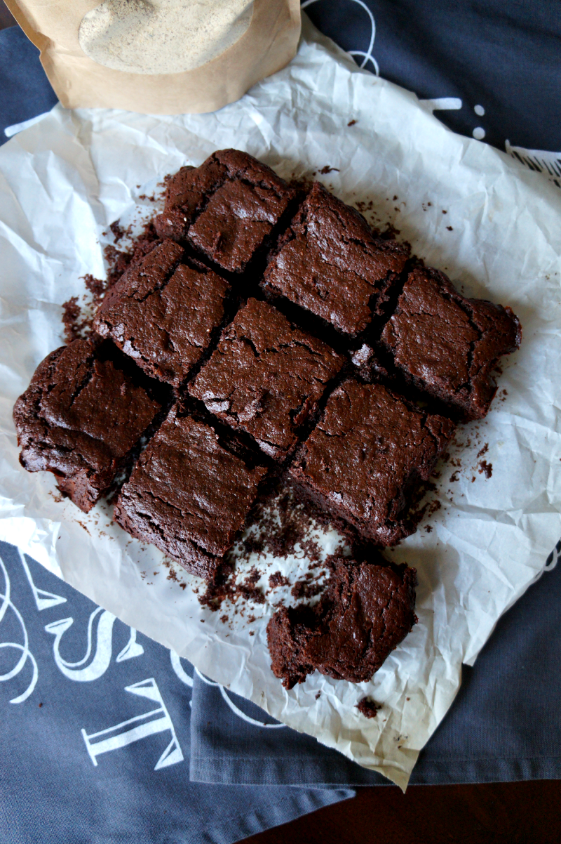 healthier brownies with SANI | The Baking Fairy