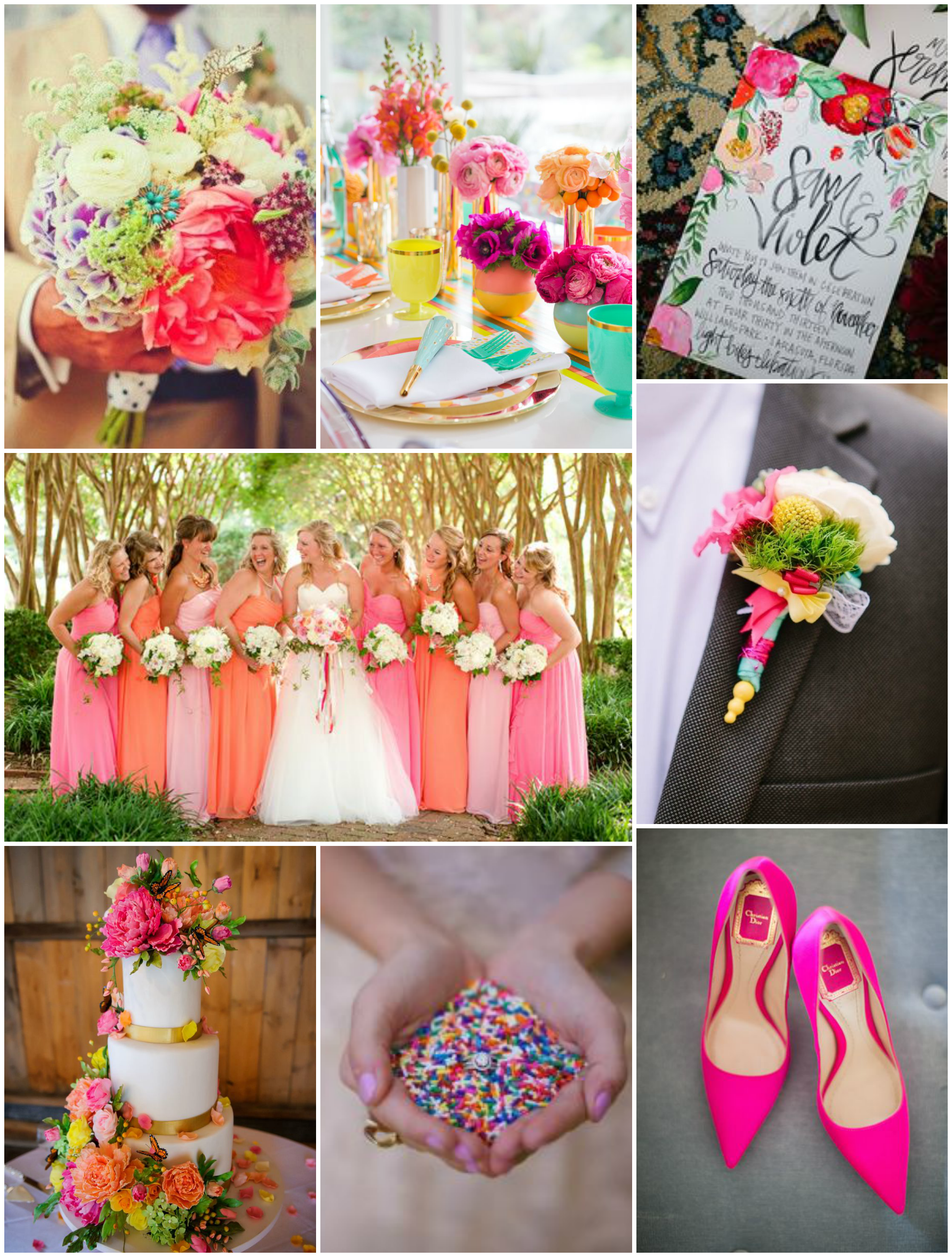 colorful wedding inspiration | The Baking Fairy