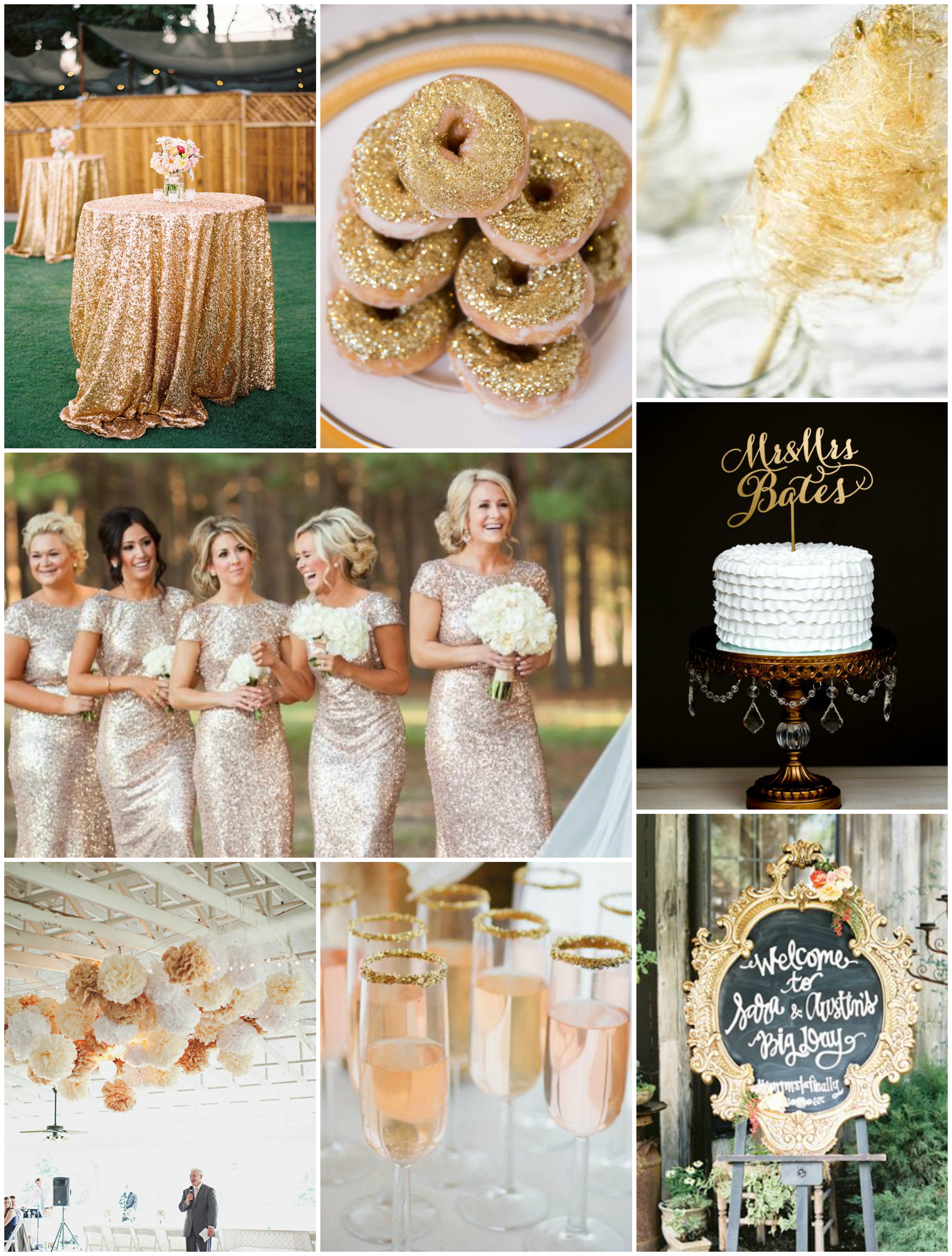 gold wedding inspiration | The Baking Fairy