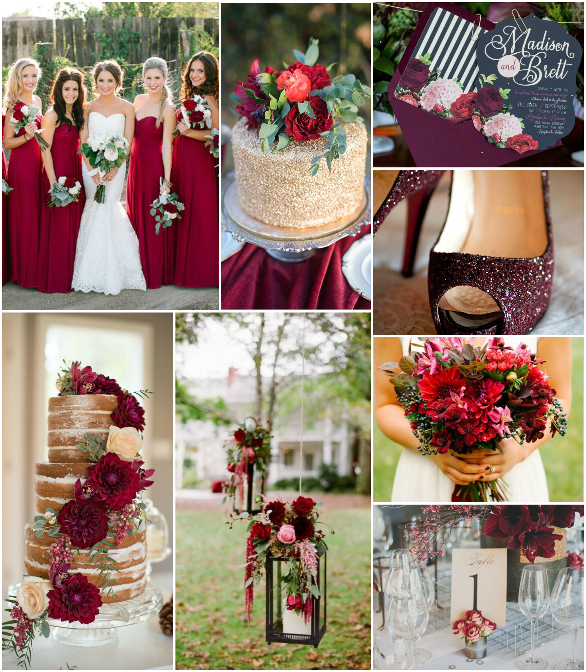 maroon wedding inspiration | The Baking Fairy