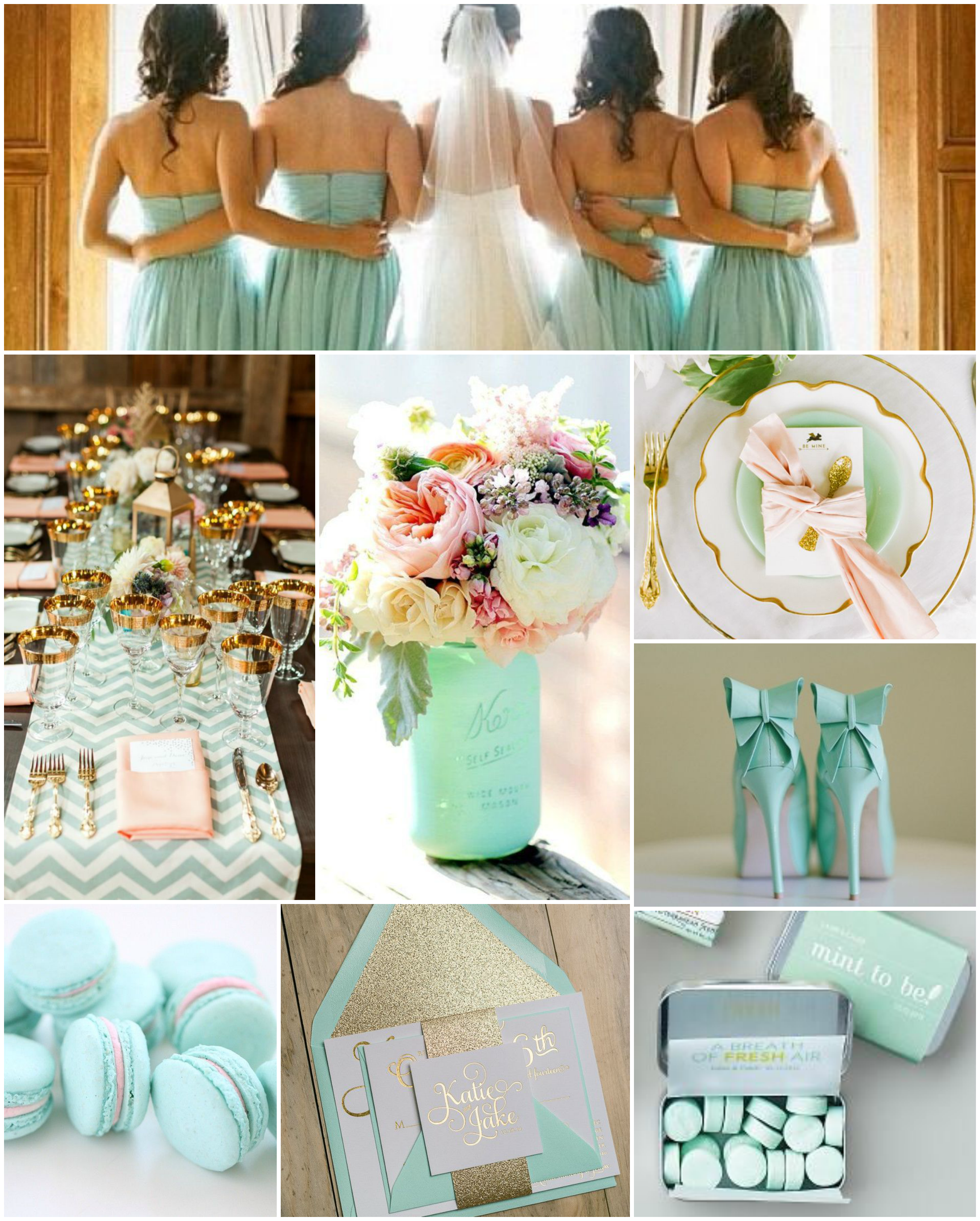 mint wedding inspiration | The Baking Fairy