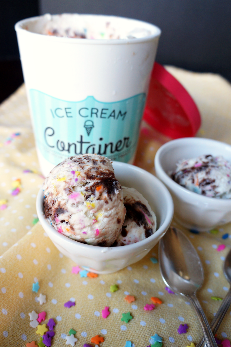 no-churn birthday party ice cream | The Baking Fairy