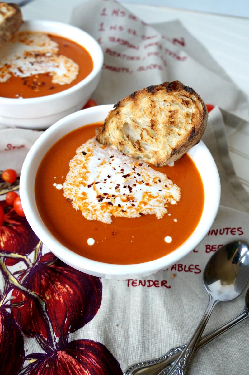 creamy tomato basil soup | The Baking Fairy