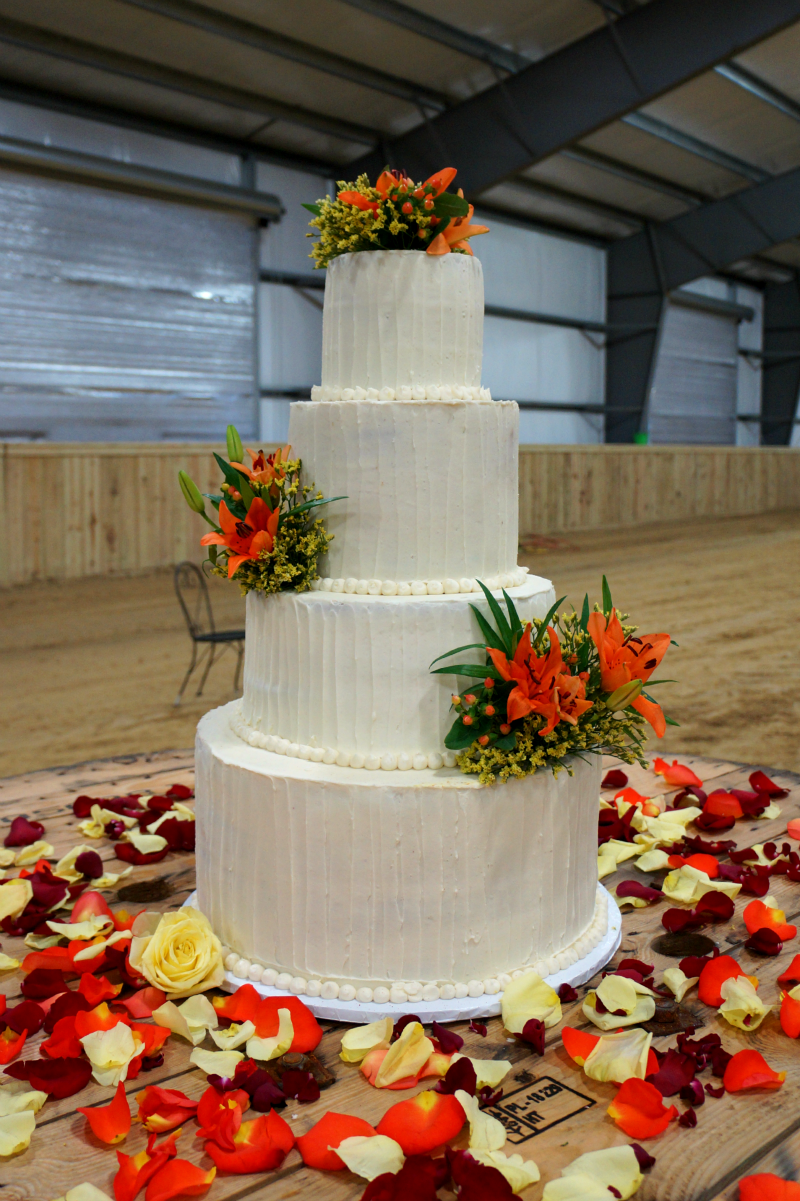 autumnal wedding cake | The Baking Fairy