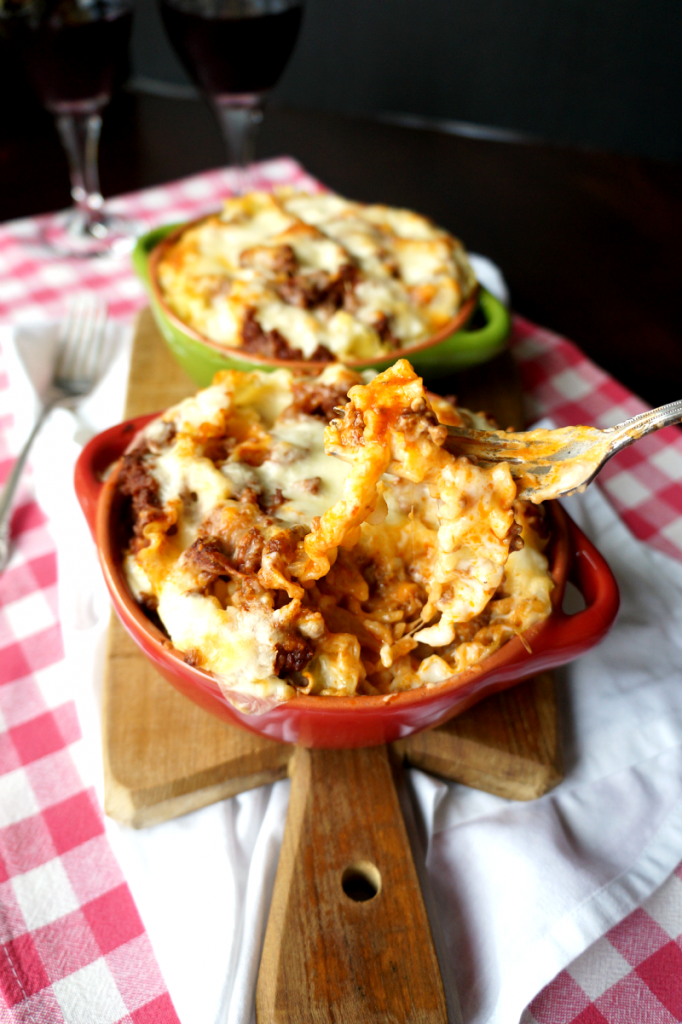 cheesy lasagna pasta bake