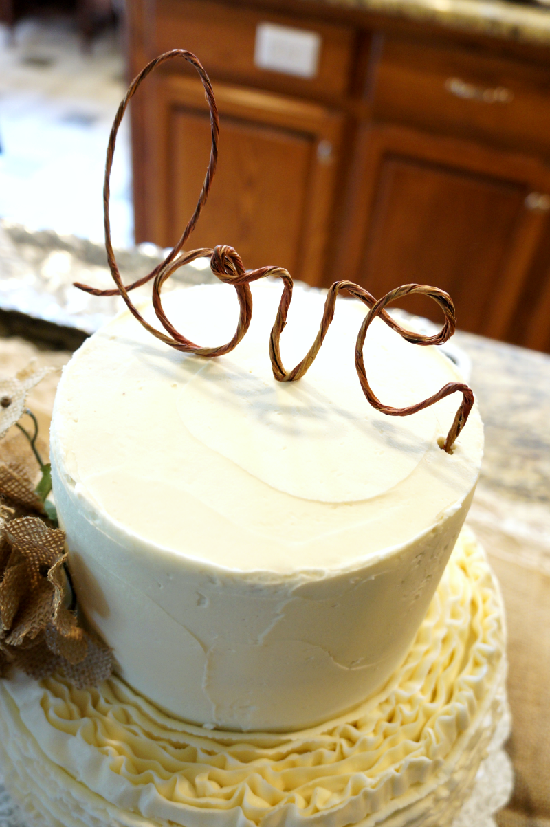 ruffled bridal shower cake | The Baking Fairy