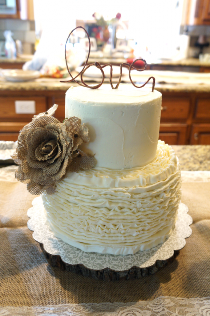 Ruffled Bridal Shower Cake The Baking Fairy