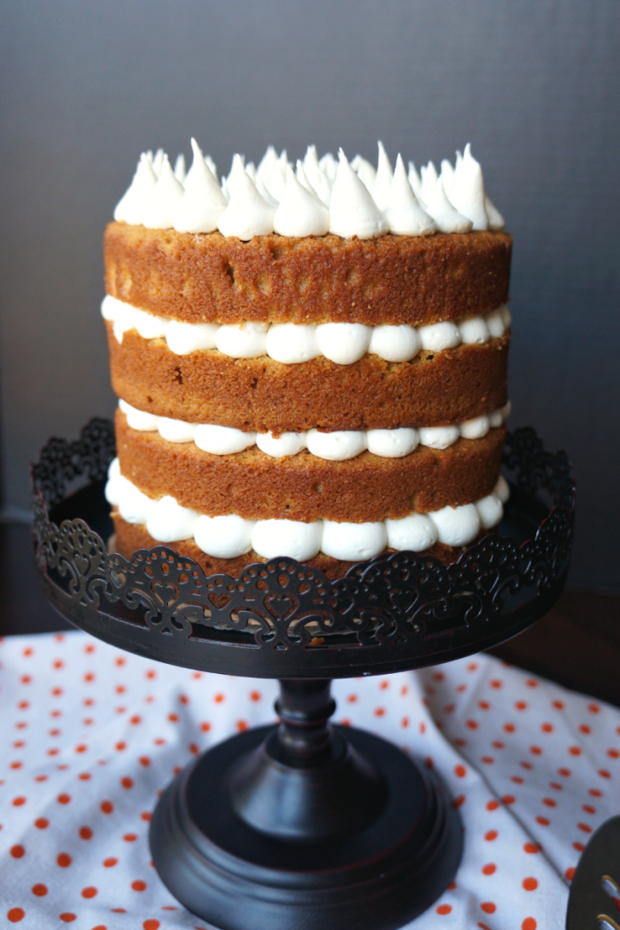 sweet potato layer cake with marshmallow frosting