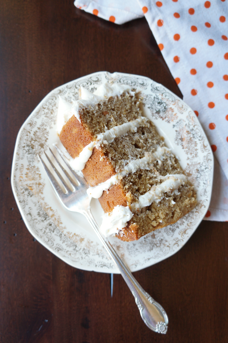 sweet potato layer cake with marshmallow layer cake | The Baking Fairy