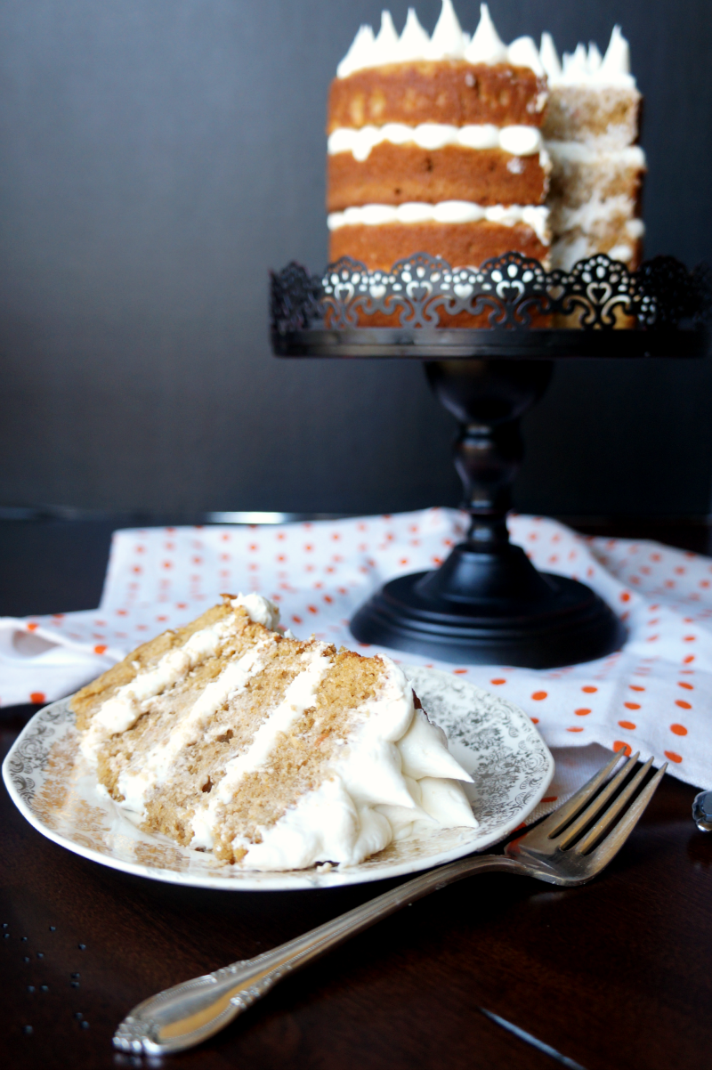 sweet potato layer cake with marshmallow frosting | The Baking Fairy