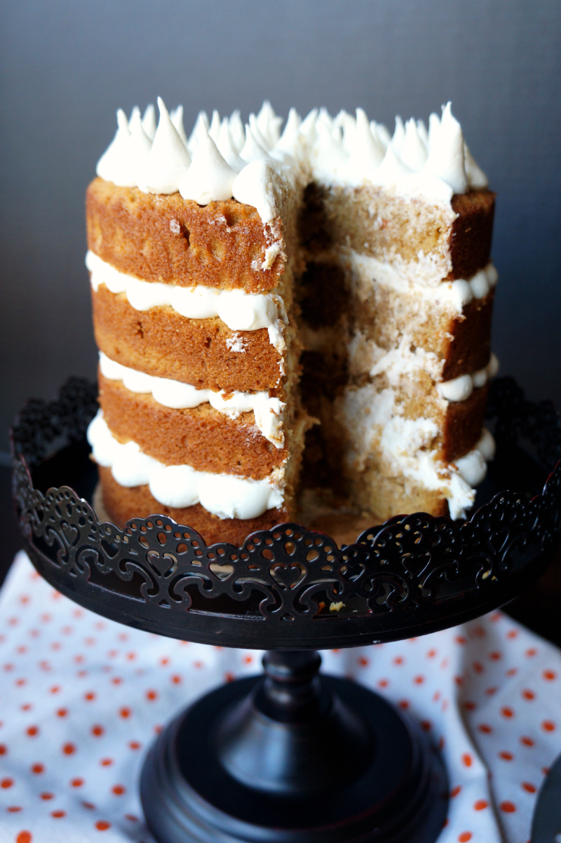 sweet potato cake with marshmallow frosting | The Baking Fairy