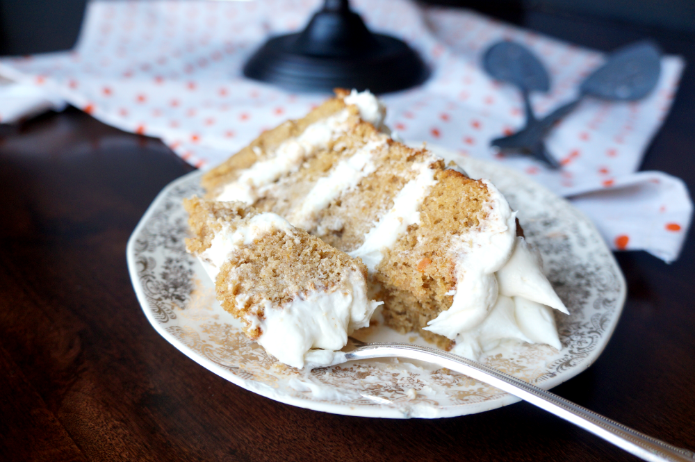 sweet potato layer cake with marshmallow buttercream | The Baking Fairy