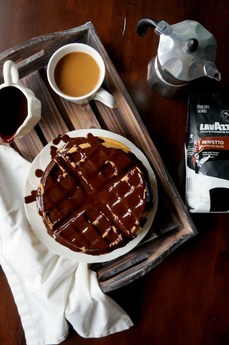 coffee waffles with mocha ganache | The Baking Fairy