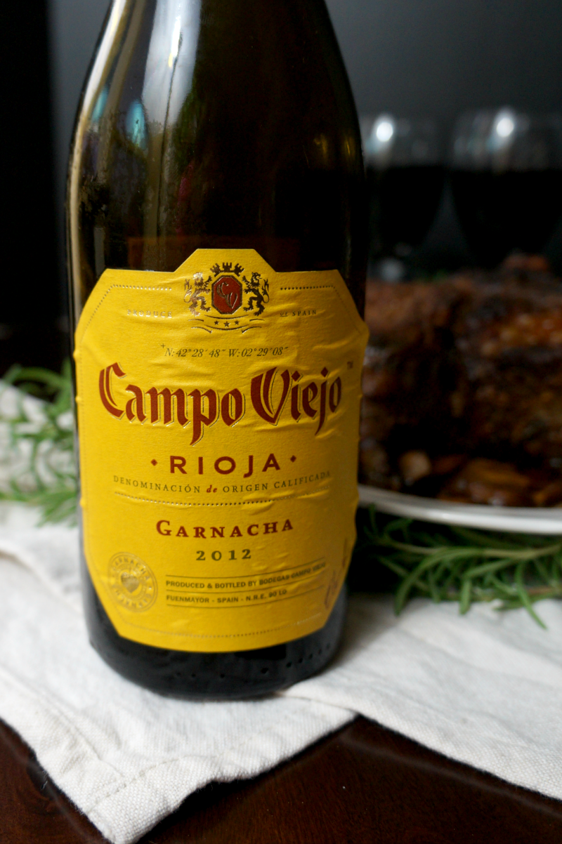 rosemary garlic rib eye roast with Rioja wines | The Baking Fairy