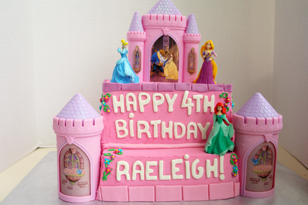 Stupendous Princess Castle Birthday Cake The Baking Fairy Funny Birthday Cards Online Alyptdamsfinfo