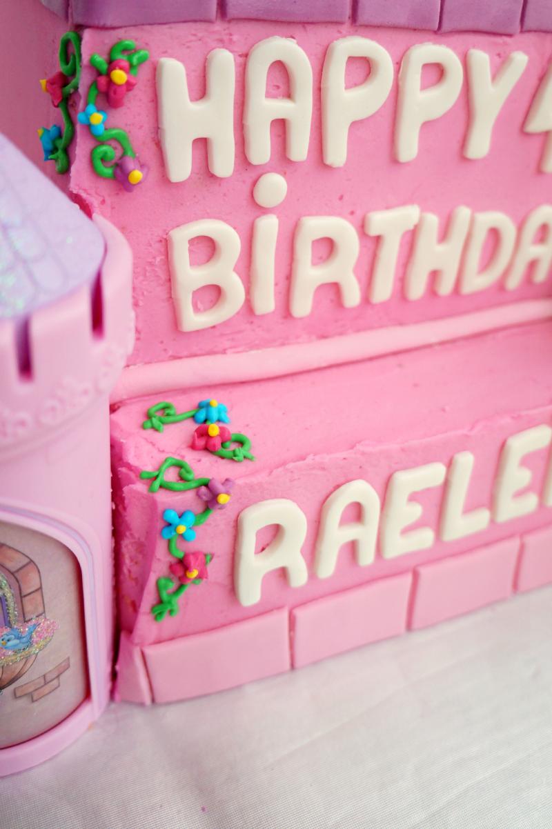 princess castle birthday cake | The Baking Fairy
