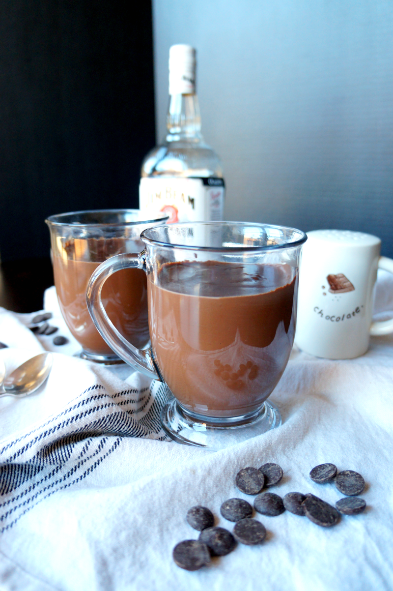 spiked italian hot chocolate | The Baking Fairy