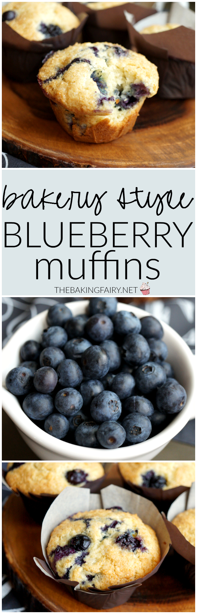 bakery-style blueberry muffins | The Baking Fairy