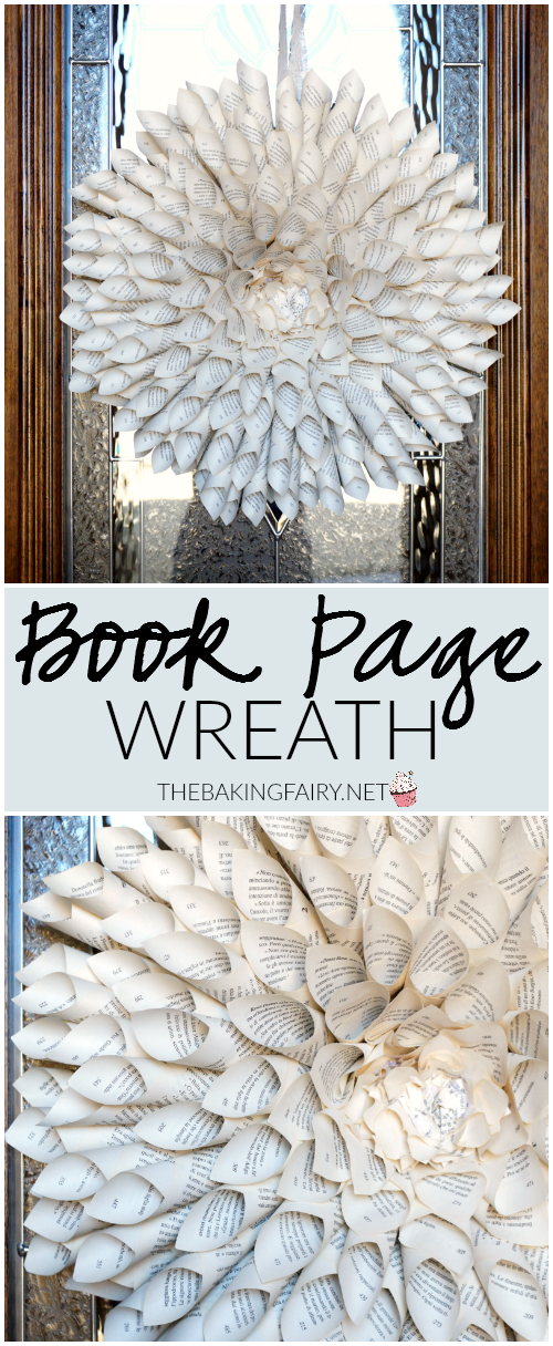 book page wreath   The Baking Fairy