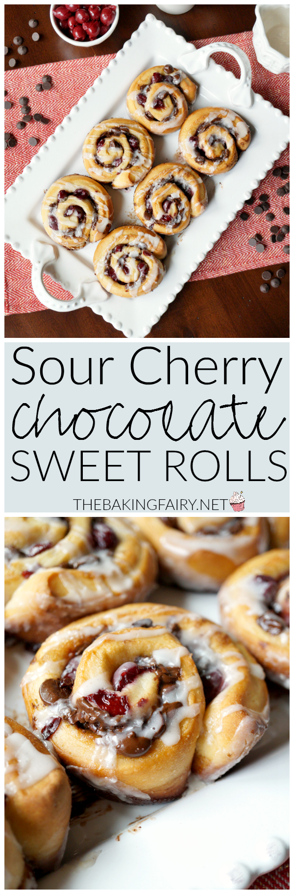 sour cherry chocolate rolls | The Baking Fairy