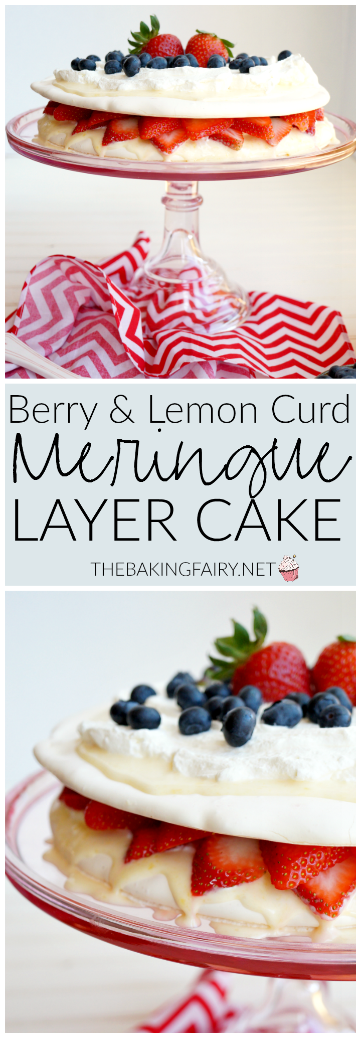 berry & lemon curd meringue cake | The Baking Fairy