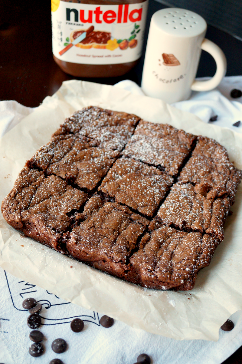 3-ingredient Nutella brownies | The Baking Fairy