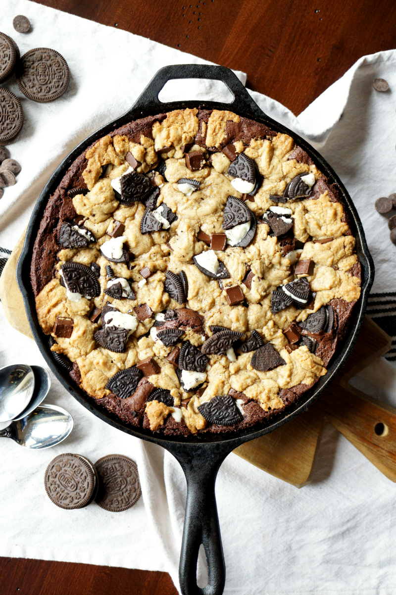 slutty skillet brownies | The Baking Fairy