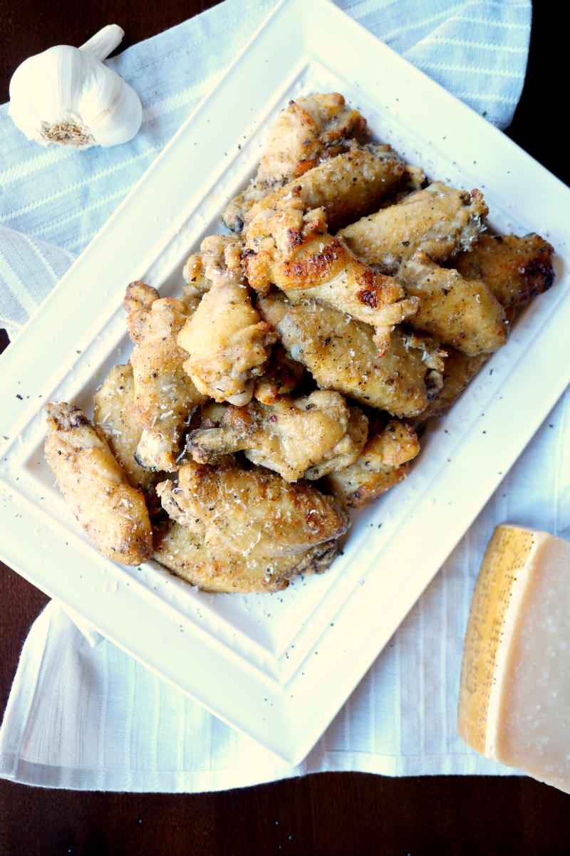 baked garlic parmesan wings | The Baking Fairy