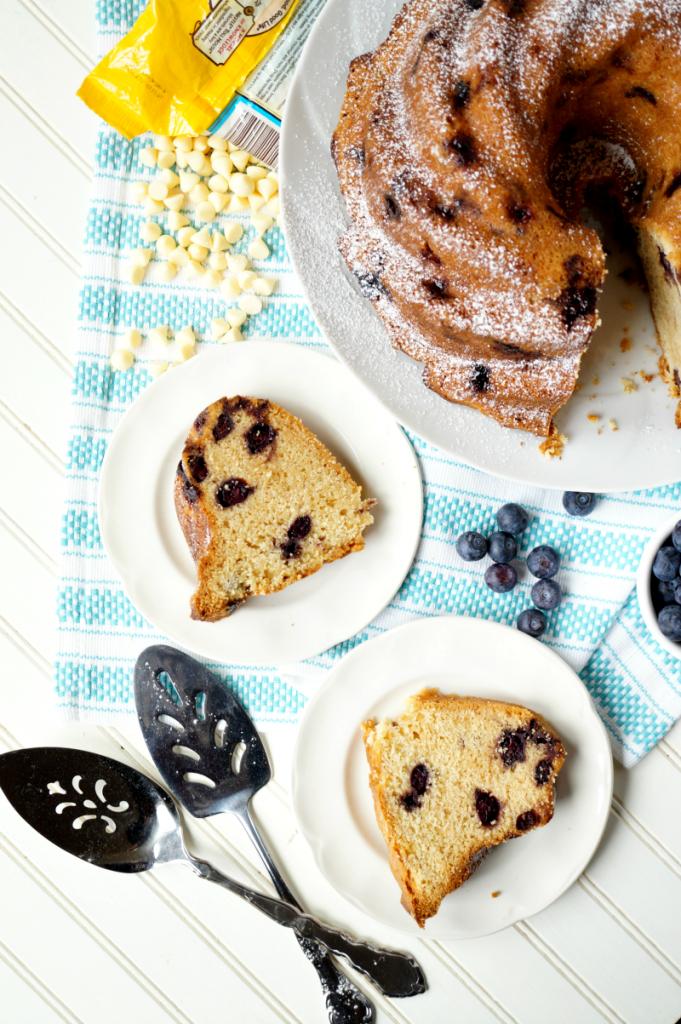 blueberry white chocolate bundt cake