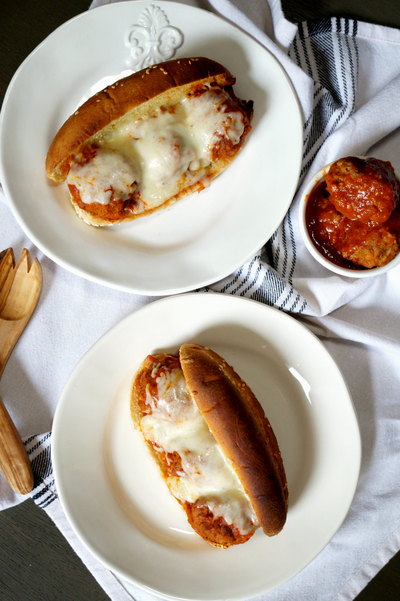cheesy meatball subs | The Baking Fairy