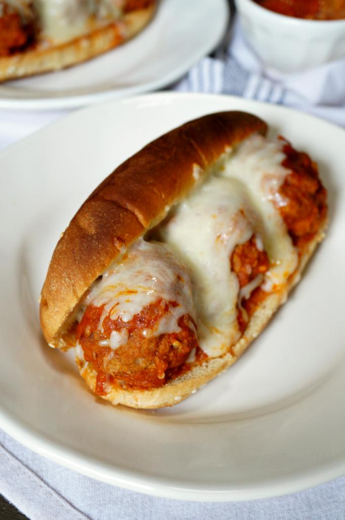 cheesy meatball subs