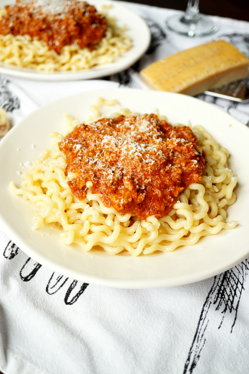 italian bolognese sauce | The Baking Fairy