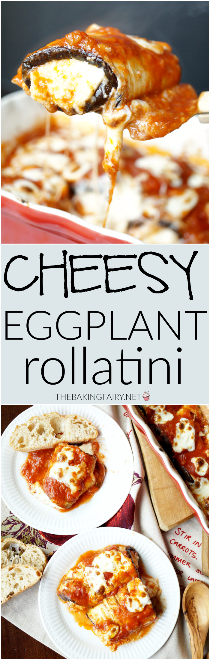 cheesy eggplant rollatini | The Baking Fairy