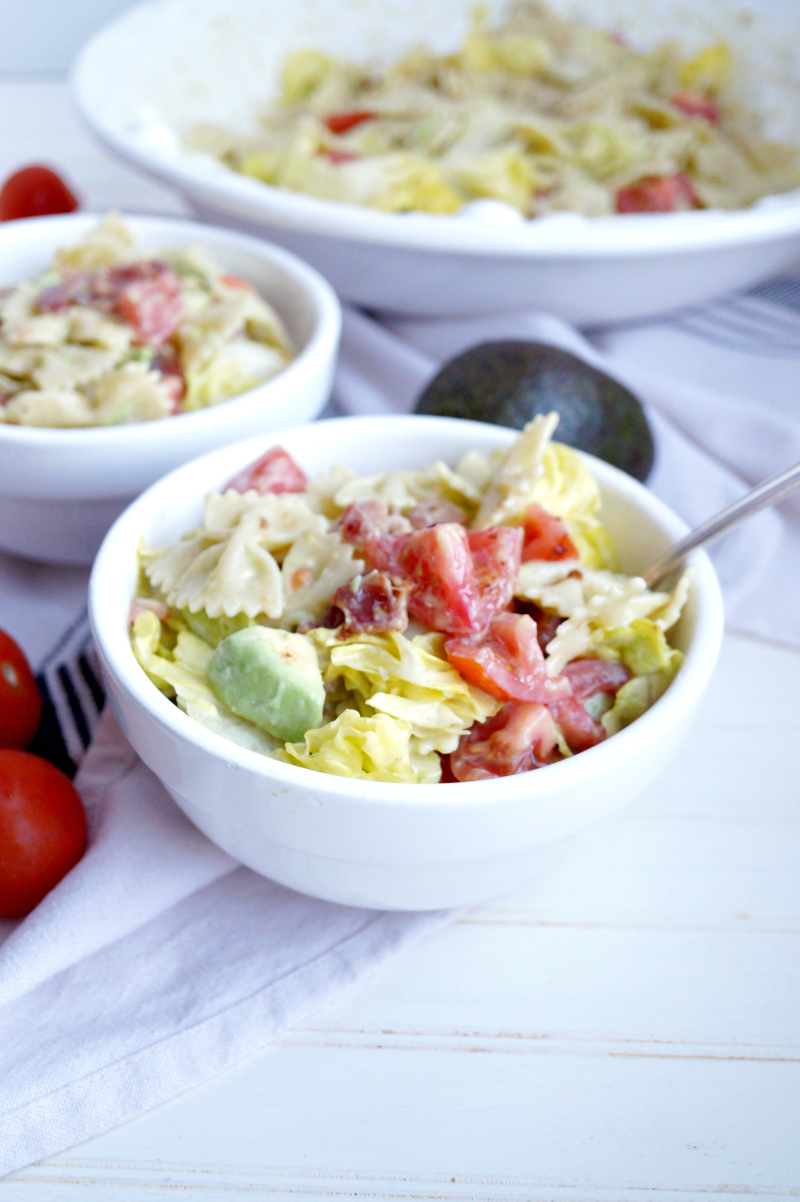 BLT pasta salad   The Baking Fairy