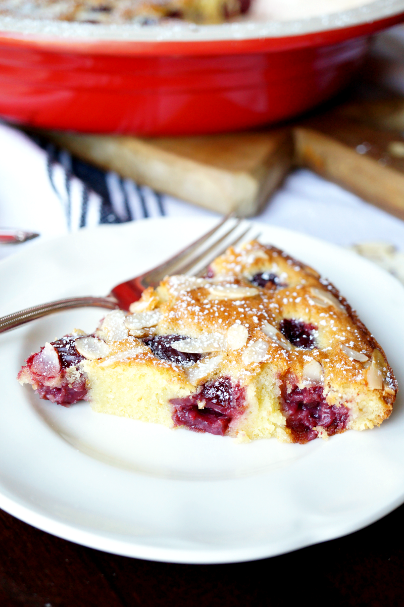 cherry almond clafoutis | The Baking Fairy